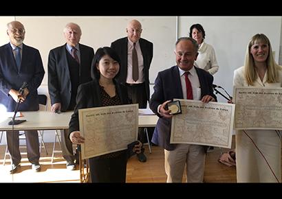 Prix de thèse Jean Favier à Sakiko Nakao