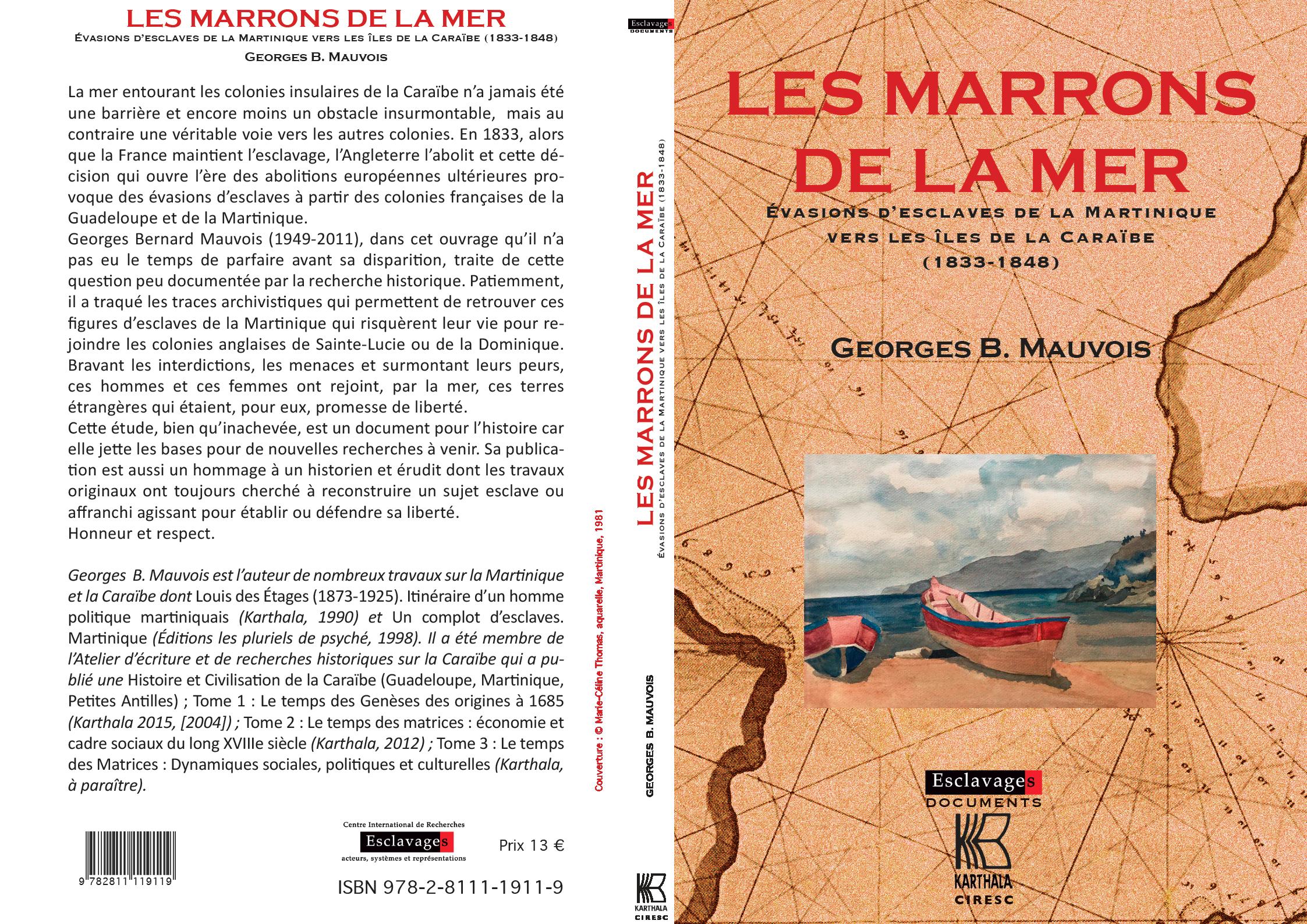 """Couverture """"Les Marrons de la mer"""""""